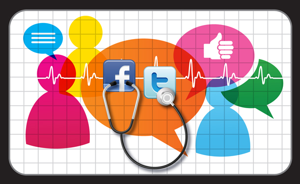 social media in health care But social media in general, and facebook in particular, provides a two-way communications channel for healthcare marketing individuals can connect with others interested in the same medical topic, illness or injury, and in some instances give and get feedback from health facilities.